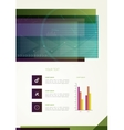 Abstract business flyer vector image vector image