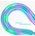 abstract curved colors motion on a gray vector image vector image