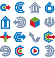 abstract icons set simple corporate graphic design vector image