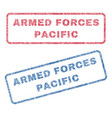 armed forces pacific textile stamps vector image vector image