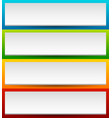 badge button banner set in 4 bright color