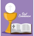 bible book cross cup icon graphic vector image