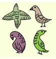 Birds decorative set vector image