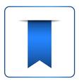 Blue bookmark banner 1 vector image