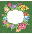 bright flower frame vector image
