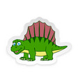 cartoon dimetrodon cute little badinosaur vector image vector image