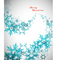 Christmas background with turquoise snowflakes and vector image vector image