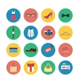 Collection of modern flat shopping icons