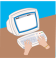 computer screen vector image vector image