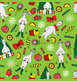 cute new year seamless pattern with lamas vector image vector image
