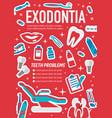 dental surgery exodontia medical poster vector image vector image