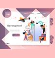 development website landing page design vector image
