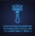 fathers day neon light icon vector image