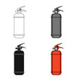 fire extinguisher powdercar single icon in vector image vector image