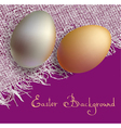 Gold and silver 3d eggs vector image