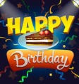 Greeting card Happy Birthday vector image vector image