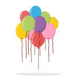 group balloons colorful flat style vector image