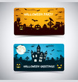halloween night with cemerety banners vector image vector image