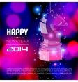 Happy New Year Card with glossy horse vector image