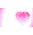 heart bg white vector image vector image