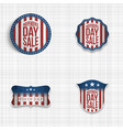 independence day greeting badges set vector image