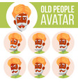 indian old man avatar set hindu asian vector image vector image