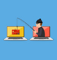 internet phishing and hacking attack concept vector image vector image
