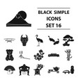 japan set icons in black style big collection of vector image vector image