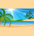 landscape background design with ocean at day vector image vector image