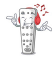 listening music cartoon remote control from tv vector image