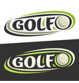 logos for golf sport vector image vector image