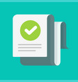 long document with verified tick or approved vector image vector image