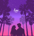 love palm tree vector image vector image