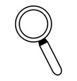 magnifying glass search icon on white background vector image