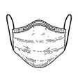 medical respirator mask in engraving style wuhan vector image