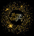 merry christmas golden ornaments vector image vector image