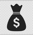 money bag icon in flat style moneybag with dollar vector image vector image