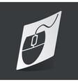 Monochrome mouse controller sticker vector image vector image