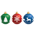 Multi-colored Christmas balls isolated on a white vector image vector image