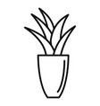 office flower pot icon outline style vector image vector image