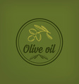 Olive oil design concept vector image vector image
