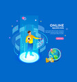 online banking futuristic concept vector image
