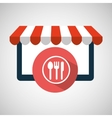 online shop restaurant design icon vector image vector image