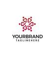 people heart logo design concept template
