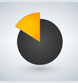 pie chart icon graph symbol for your web site vector image