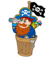 pirate at dog watch vector image