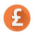 Pound symbol vector image