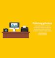 printing photos banner horizontal concept vector image