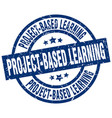 project-based learning blue round grunge stamp vector image vector image