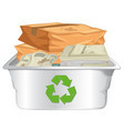 recycle paper on white background vector image vector image
